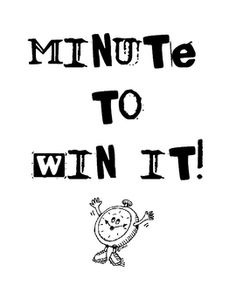 "7 ""Minute to Win It"" games that are easy and fun to play with any grade level students #edchat #educhat #studyfun #learning"