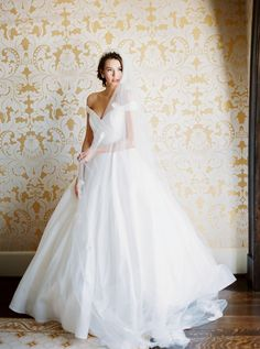 Classic bridal elegance is the Berkeley by Anne Barge. Photo by Shannon Moffit for Vow Bride magazine.