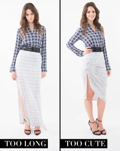 Turn a standard maxi skirt into a sexy, swooping pencil skirt with one knot at the hip and another at the hem.   From: 6 Ways Knotting Your Clothes Can Change Your Whole Look