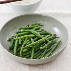 Sauteed Sesame Green Beans -- Perfect for a Oriental side dish.