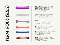 Perm Rods - These are great to use for when you are transitioning :)