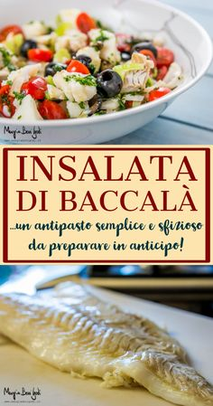 Cod salad- Insalata di baccalà The cod salad is a very appetizing fish … - Baccala Salad Recipe, Easter Dinner Recipes, Shellfish Recipes, Seafood Salad, Sicilian Recipes, Xmas Food, Fish And Chips, Fish Dishes, Salmon Recipes