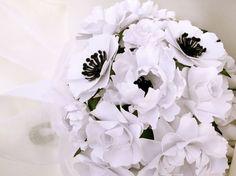 Handmade Paper Flower Wedding Bouquet  by DragonflyExpression, $125.00