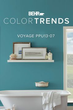 A rich blue-green that's both soothing and exciting. Discover Voyage, our Color of the Month.