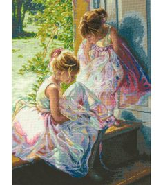 "Gold Collection Ballerina Dreams Counted Cross Stitch Kit-11""X14"" 18 Count, , hi-res"