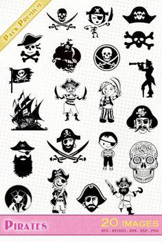 Fête des pères / Bonne fête Papa - Fichiers SVG/SILHOUETTE/DXF/EPS Microsoft Office, Adobe Illustrator, Silhouette Png, Silhouette Studio, Scrapbooking Machine, Clipart, Pirate Face, Fourth Birthday, Pirates Of The Caribbean