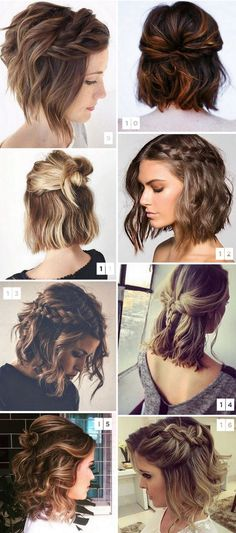 #Hairstyles Cute Hairstyles for Short Hair 2018