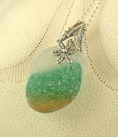 GENUINE English Sea Glass Necklace Secret by seaglassgems4you, $48.00