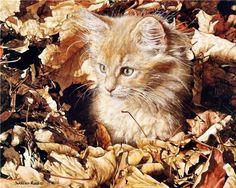 Orange cat paintings. Sueellen Ross