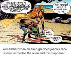 That time an alien grabbed Jason's face so Kori exploded it lol Jason Todd aka Red Hood and Starfire I Am Batman, Superman, Gotham Batman, Batman Art, Batman Robin, Redhood And The Outlaws, Nananana Batman, Red Hood Jason Todd, Univers Dc