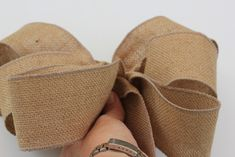 how to make burlap bow