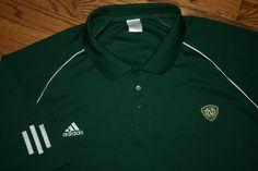 Notre Dame Fighting Irish Green Adidas Climacool Polo Golf Shirt Men's 4X-Large #adidas #NotreDame