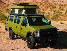 American-based Sportsmobile will custom-build you an overlanding camping van from out of a Ford Econoline cutaway cab. Sportsmobile Van, Old Ford Trucks, Ford 4x4, Ambulance, Pop Top Camper, Toyota Van, Chevy Express, 4x4 Van, Rv Camping