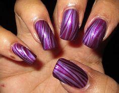 My Simple Little Pleasures: NOTD: Purple Stripes Water Marble + Tutorial