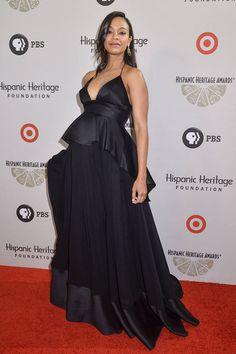 Zoe Saldana | 100 Best Red Carpet Moments of 2014 - Celebrity Red Carpet Fashion - Elle