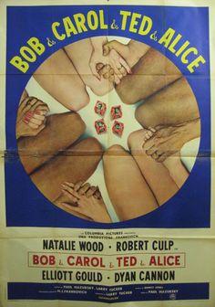 BOB & CAROL & TED & ALICE (Dir. Paul Mazursky, 1969) - Italian poster