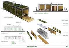 Green roof and walls; – System of reuse of water; – Use of solar panels for water heating; – Use of wind power to generate electricity.