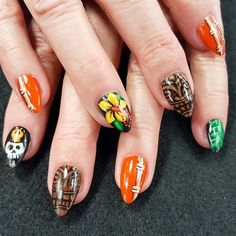 Tropical nail art by Oli123 from Nail Art Gallery
