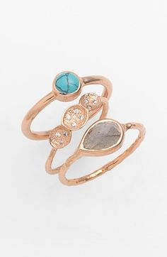 Melinda Maria 'Michelle' Pod Stackable Rings (Set of 3) available at #Nordstrom $148