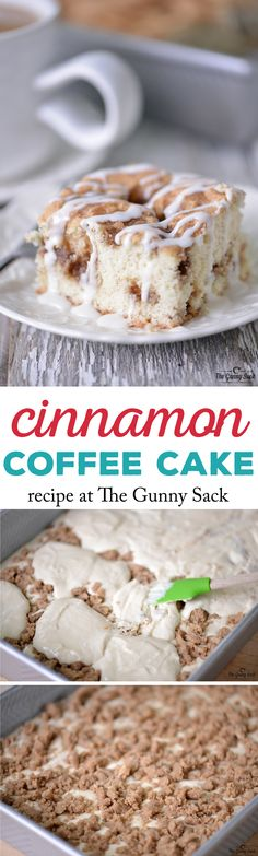 Cinnamon Coffee Cake - Perfect for brunch or serve it as dessert with a cup of steaming coffee.