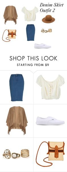 Denim Skirt Outfit  2 by vas0an on Polyvore featuring Jens Pirate Booty, mel, Melissa McCarthy Seven7, Vans, TLC&you, RHYTHM and plus size clothing