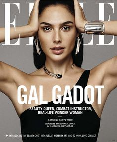 EDITORIAL: Gal Gadot - Elle Magazine December 2017 Gal Gadot wearing sterling silver jewelry and a sterling silver and jade necklace from Elsa Peretti for Tiffany and Co. on the December 2017 cover of Elle Magazine Gal Gadot Style, Best Fashion Magazines, Marc Jacobs, Magazin Covers, Gal Gadot Wonder Woman, Magazine Cover Design, Fashion Magazine Covers, Elle Magazine, Wonder Woman
