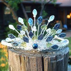 Rivendell Spring Peacock Fan Tiara Fascinator   Thyme2dream - Wedding on ArtFire