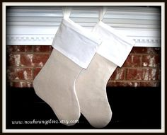 Linenburlap  One Christmas stocking4 for 3 deal by nowhiningpleez, $18.95