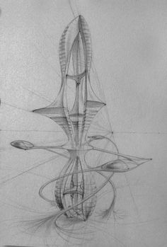 my big passion are skyscrapers and these are some sketch ideas. Zaha Hadid Architecture, Futuristic Architecture, Facade Architecture, Classical Architecture, Foo Dog Tattoo Design, Architecture Concept Drawings, Easy Drawings Sketches, Abstract City, Insect Art