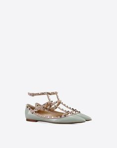 VALENTINO Rockstud Ballerina. #valentino #shoes #