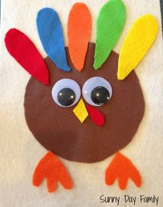 Sunny Day Family: Felt Turkey Puzzle: Busy Bag Activity