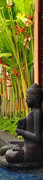 As water quenches fire, so does humility calm th unruly effects o/t ego in yr life Bali Garden, Balinese Garden, Asian Garden, Tropical Garden, Garden Art, Water Garden, Namaste, Buddha Zen, Tropical Design