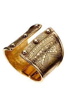 Carole Tanenbaum  - Etched Oxidized Gold Cuff