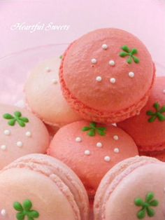 Cute Strawberry Macarons