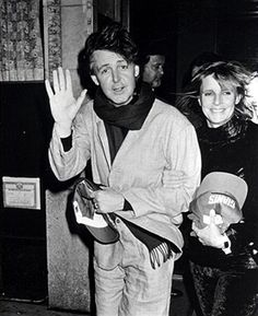 Paul McCartney and Linda McCartney during Party for Paul McCartney's Concert Performance at Sardi's Restaurant in New York City, New York, United States.