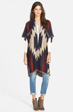Woven+Heart+Oversize+Cardigan+(Juniors)+(Online+Only)+available+at+#Nordstrom