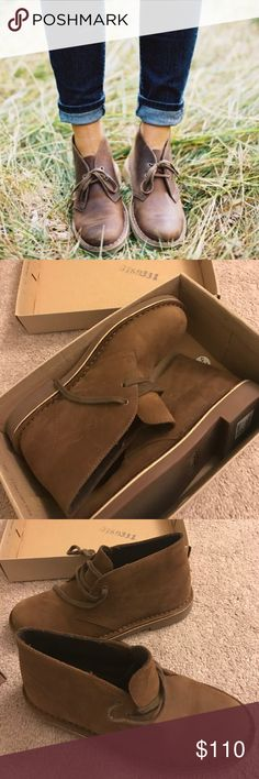 ✨Dark brown desert clarks✨ Brand new in the box and never worn! True to size! No flaws. Clarks Shoes
