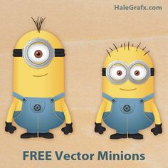 "FREE Vector Despicable Me Minions. Go to main page and search ""minions"". Despicable Me Party, Evil Minions, Minions Despicable Me, Minion Party, My Minion, Minion Theme, Minion Birthday, Baby Birthday, Minion Craft"