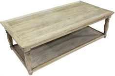 Chester Coffee Table Greywash Wood. A Block and Chisel Product.