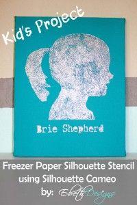 Freezer Paper Silhouette Stencil – A Kid's Project
