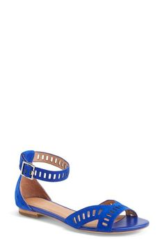 Free shipping and returns on Joie 'Luca' Leather Sandal (Women) at Nordstrom.com. Cool perforations lend contemporary geometric appeal to a bold ankle-strap sandal available in an array of up-to-the-minute hues and finishes.