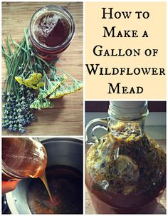 How to Make a Gallon of Wildflower Mead~ The perfect springtime elixir! www.growforagecookferment.com