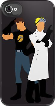 Dr Horrible & Captain Hammer vector iPhone case