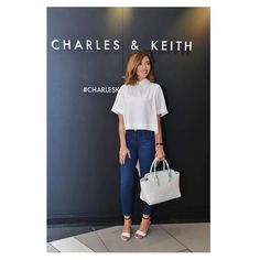 """@ygolsharifi's photo: """"Today was the reopening event of Charles&Keith Store in The Avenues Mall. They have a really cool summer collection of shoes and bags. (Showed you guys some of my favs on snapchat). I'm wearing shoes by them and holding one of their bags in the pic. This is their account- @charleskeithofficial @auroravision"""""""