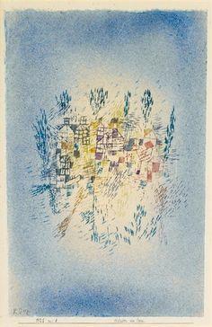 Paul Klee - HÄUSER AM PARK (HOUSES BY THE PARK)