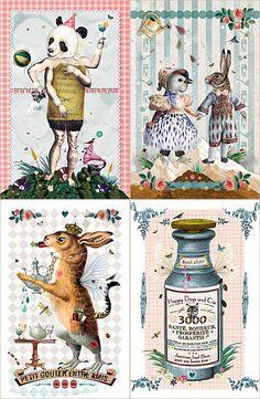Vintage Cards by Les Bonnes Nouvelles de la Marelle