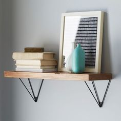 "I think this one is PERFECT!  comes 2' or 3' wide - 8"" deep!!!  Reclaimed Wood Shelving + Brackets 