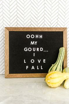 Farmhouse Fall Decor - Kitchen - Letterboard - We believe seasonal decor should budget friendly and simple. Today we're sharing our Fall Home Tour at the Touch Gold Project along with our best tips for decorating this fall. Felt Letter Board, Felt Letters, Felt Boards, Sign Boards, Word Board, Quote Board, Message Board, Hygge, Farm Quotes