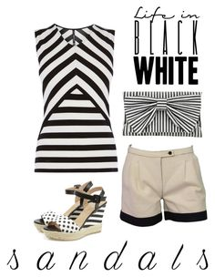 """sandals"" by masayuki4499 ❤ liked on Polyvore featuring Karen Millen, Fendi and Inge Christopher"