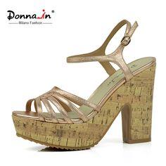 118.00$  Watch now - http://alixqb.worldwells.pw/go.php?t=32659706597 - Donna-in platform sheepskin sandals original design fashion ladies sandals